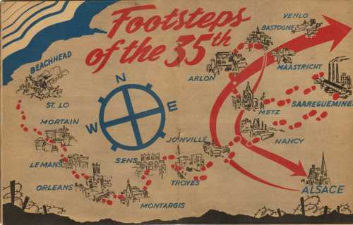Map of the Advancement of the 35th Infantry